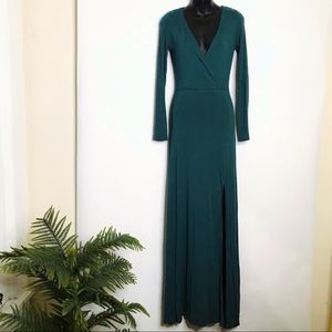Lulu's Long Sleeve Maxi Dress with Split